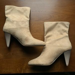 LIKE NEW Tan Suede Booties   EXPRESS